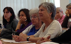 Jewish women learn about philanthropy and Jewish grants.