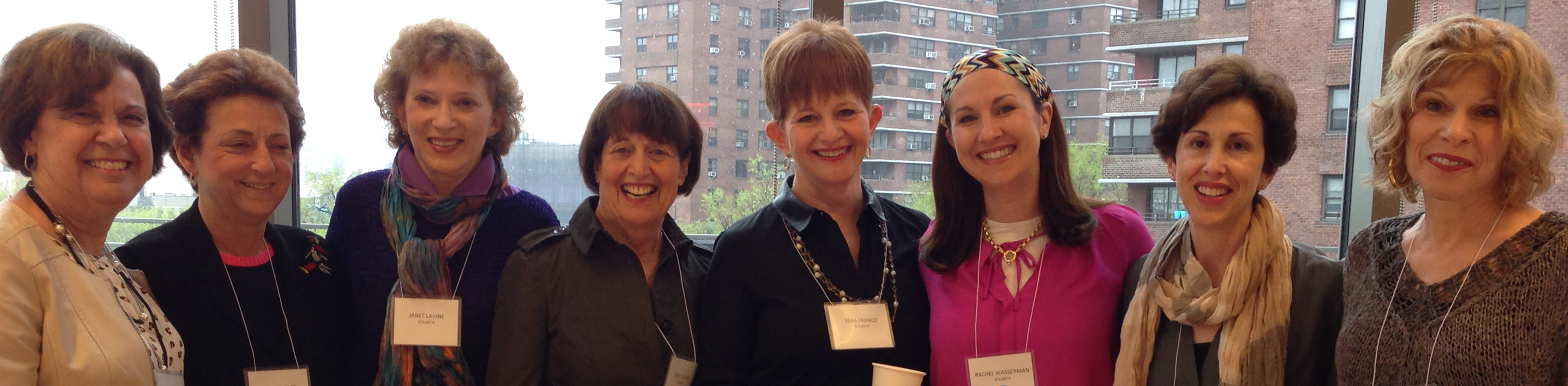JWFA Trustees enjoy time together after a discussion on Jewish grants.