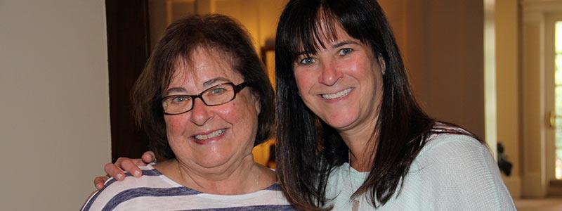 2 JWFA Trustees catch up on Jewish grants.
